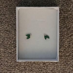 Mistletoe stud earrings